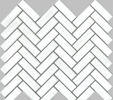 HERRINGBONE WHITE 23X73 MATT Image