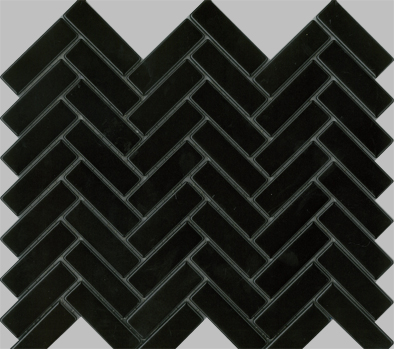 HERRINGBONE MATT BLACK 23X73 Image