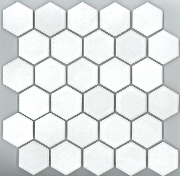 HEXAGON GLOSS WHITE 48X48 Image