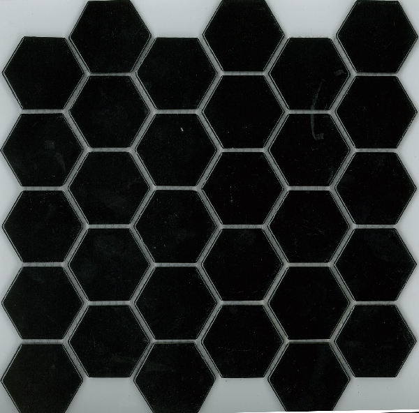 HEXAGON GLOSS BLACK 48X48 Image
