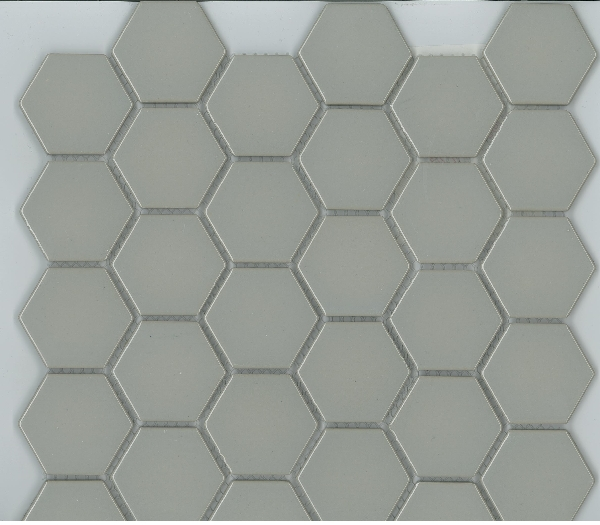 HEXAGON GLOSS LIGHT GREY 48X48 Image