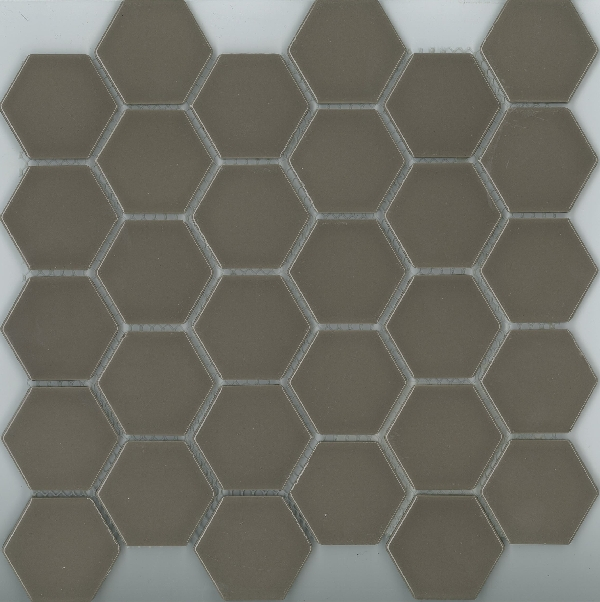HEXAGON GLOSS MOCHA 48X48 Image