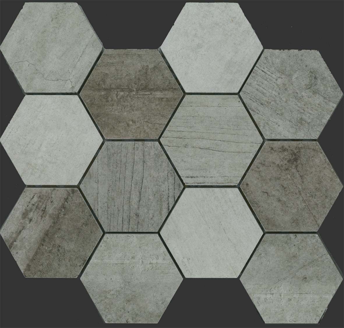 INDUSTRIE HEXAGON MOSAIC MIX 86X86 Image