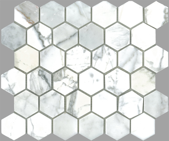 REWIND HEXAGON ITALIAN CALACATTA HONED 50X50X8 MM Image