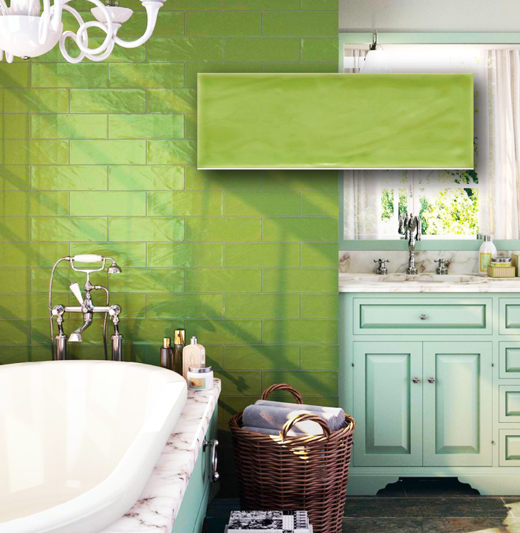 BULEVAR ROYAL PISTACHO SUBWAY TILES 100X300 Image