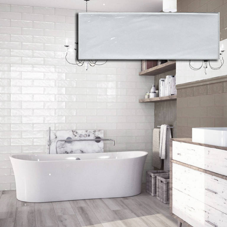 BULEVAR WHITE SUBWAY TILES 100X300 Image