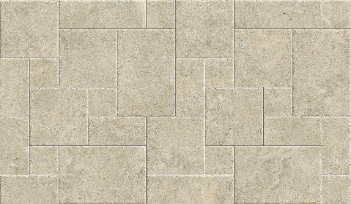 FRENCH PATTERN TRAVERTINE IVORY MATT & EXTERNAL Image