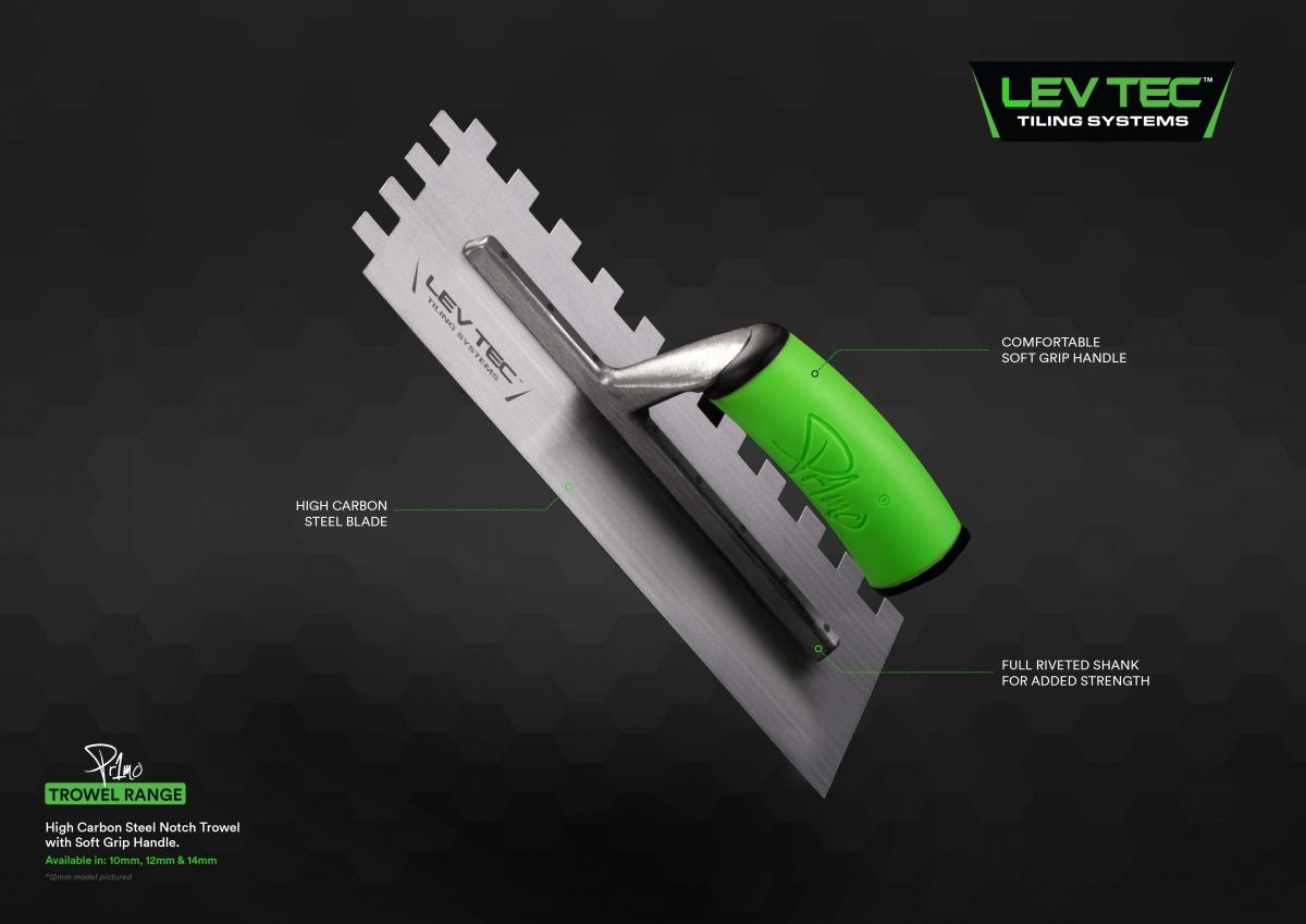 LEVTEC Notched Trowel 14MM Image