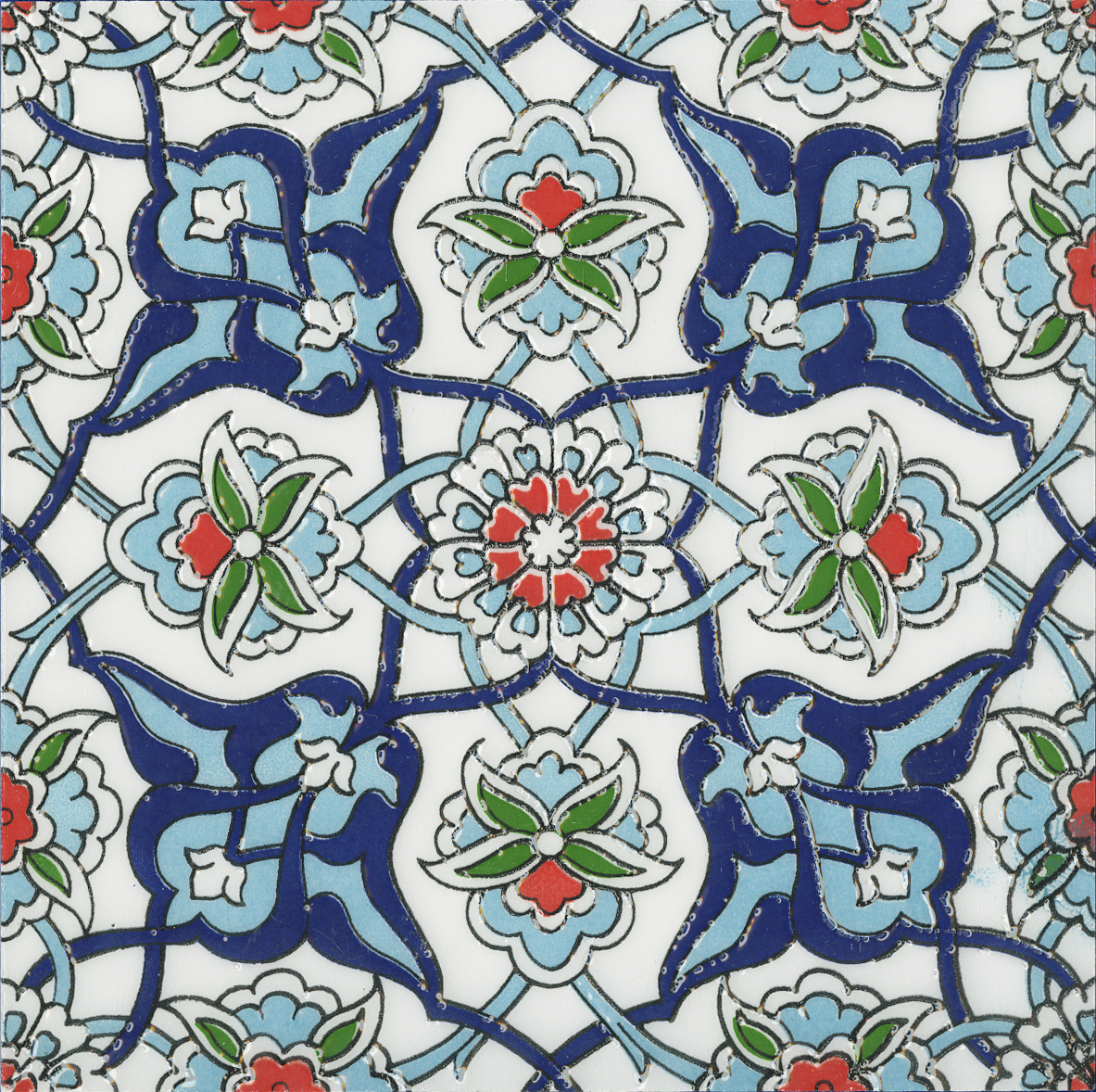 MOROCCO TURKISH BLUE GLOSS 200X200 Image
