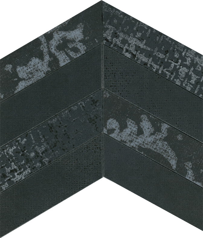 NETWORK BLACK CHEVRON MOSAIC FLOOR AND WALL 60X170 Image